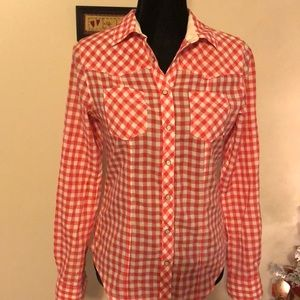 🔥5/$25🔥Gap snap button down top size SMALL